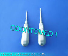 2 Dental  Root Elevator #301 + 34S Surgical Dental Instruments