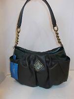 NWT Simply Vera Wang hunter green purse handbag bag hobo satchel pleated