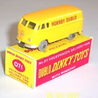 RESTORED HORNBY DUBLO DINKY TOYS 071 VOLKSWAGEN DELIVERY VAN, GREY WHEELS, BOXED