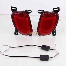 LED Rear Bumper Brake Light Turn Signal Light DRL for Toyota Highlander 2014~ON
