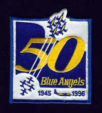 BLUE ANGELS PATCH 50TH ANNIVERSARY 1996 US NAVY MARINES PIN UP ANGEL BA SL102