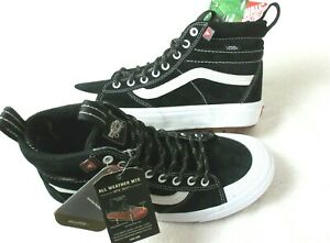 Vans Men's Sk8-Hi Mte 2.0 Dx All Weather Skate Boots Black True White Size 9 NWT