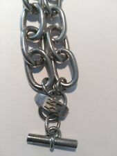 DKNY Donna Karen Chunky Stainless Steel Statement Chain Bracelet