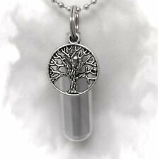"Eternal Tree of Life Anointing Oil Holder on 24"" Ball-Chain Necklace with Pouch"