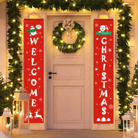 Banner Wall Hanging Door Sign Porch Curtain Home Party Decor Merry Christmas D