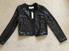 BB Dakota Sequin Taryn Jacket ** BLACK ** Small S