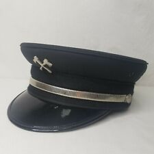 Vintage Fire Department Dress Uniform Chiefs Hat Ax Pin Band Union Made USA