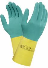 Ansell 87-900 Bi-Colour Chemical Resistant Safety Gloves, Size 8.5 to 9