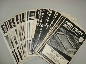 Full set of Derby County home programmes 1968-69 - 26 programmes in all