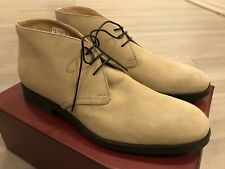 750$ Bally Robik Beige Suede Ankle Boots Size US 11 Made in Switzerland