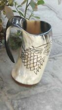 Game Of Thrones Stark Sigil Wolf Viking-Drinking Horn Mug Cup Beer Wine Mead Ale