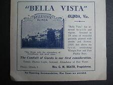 Bella Vista Olinda G M Heath 1937