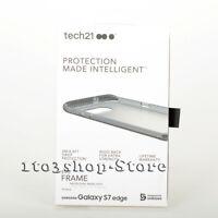Tech21 Evo Frame Hard Snap Cover Case for Samsung Galaxy S7 Edge Smokey/Black