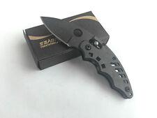 Mini SR Ball Bearing Lock Steel Camping Pocket Saber Fishing Knife K114 Gift New