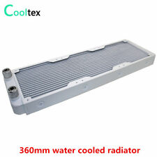 White 360mm Water Cooling Radiator Aluminum Heat Exchanger Cooler For Computer