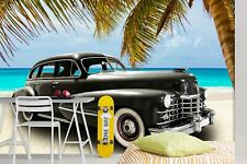 3D Antique Black T425 Transport Wallpaper Mural Self-adhesive Removable Sunday