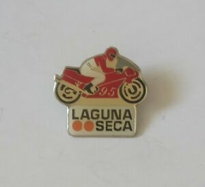 LAGUNA SECA RACEWAY 95 METAL PIN BADGE SUPERBIKES MOTO GP MOTORBIKES CALIFORNIA