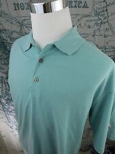 Ping Men's Polo Short Sleeve Golf Shirt - BlueStriped Cot/Poly Size Lg - I763a