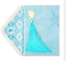 PAPYRUS DISNEY ELSA FROZEN BLANK CARD ANY OCCASION GLITTER GEMMED