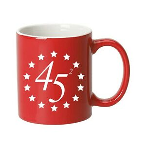 Trump 2020 Vintage Flag Ceramic Coffee Mug (45 Squared)
