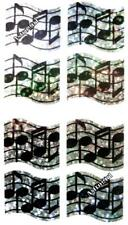 ~ Sparkle Music Notes Sheet Musical Musician Hambly Studios Glitter Stickers ~