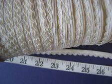 """A2396 BRAID TRIM Cotton Edge Braid Cream Off White 3/8"""" W  10 Yds"""