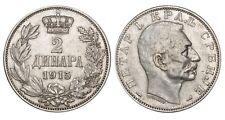 SERBIA 2 Dinara 1915 KM#26.3