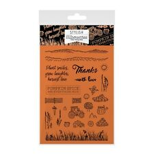 Hunkydory elegante silhouette clear STAMP Woodland Walk Stamp Set Pumpkin Spice