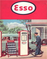 Esso Garage VINTAGE ENAMEL METAL TIN SIGN WALL PLAQUE
