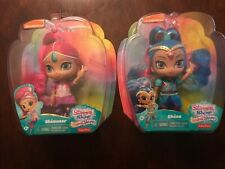"Fisher-Price Shimmer and Shine Rainbow Zahramay Shine & Shimmer Dolls 6"" Nip"