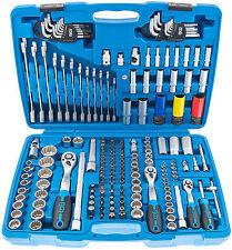 Conjunto de llave de vaso 176 piezas estriadas caja ratschenkasten pulgadas herramienta