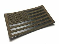"""Standard Infrared reflective Coyote brown IR US Flag Patch 3.5x2"""" Special Forces"""