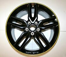 "20"" Satin Black w/ Yellow Stripe 2014 2015 2016 Corvette Rear Wheel Rim 19302120"