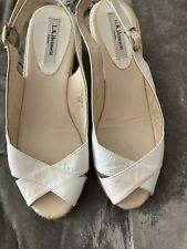 LK Bennett White Patent Low Wedge  Sandals. Size UK5 (38) Excellent condition