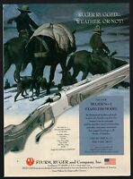 2002 RUGER No. 1 Stainless Rifle AD Hunting Advertising Firearms Gun