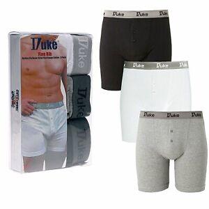 Mens Boxer Shorts Multipack Underwear Designer Trunks Button Fly 3 Pack S-2XL