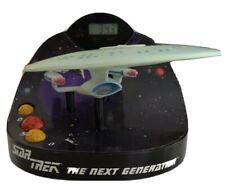 Rare Star Trek TNG Enterprise NCC-1701-D Talking Clock - Tested and Working