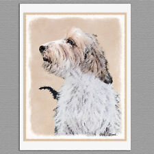 6 Petit Basset Griffon Vendéen Blank Art Note Greeting Cards