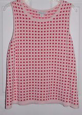 Coldwater Creek Women's Sleeveless Top Blouse Pink/Coral Extra Large 16