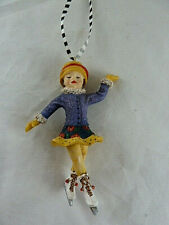 "Mary Engelbreit Ice Skating girl Resin Ornament 4.5"" Hard to Find"