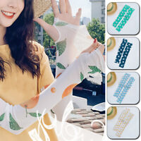 Women Elastic Sun Protection Ice Silk Arm Sleeves Breathable Cycling Outdoor