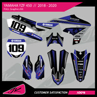 YAMAHA YZF 250 / YZF 450 2018 2019 2020 FULL GRAPHICS KIT Sticker Decal MX