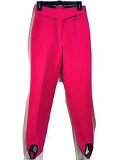 nwot Vintage Obermeyer Womens Ski Pants Size 8 Neon pink Stirrups High Waist