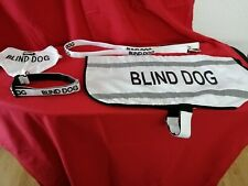 "DEXIL ""BLIND DOG"" - COAT, COLLAR, LEAD AND BANDANA - SET OF 4 - LIGHTLY USED"