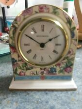 "NEW! Beautiful Wedgwood Bone China Small Mantel Clock ""Sarah""/ Ships Free"