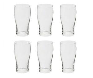 6 x Tulip Half Pint Beer Glasses Set 30cl/300ml Traditional Plain Beer Lager
