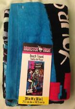 Monster High Beach Towel_Be Yourself_Draculaura_Clawdeen_Frankie_100% Cotton
