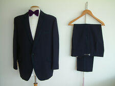 "VINTAGE BESPOKE MADE DINNER SUIT..44"" x 38..HOPSACK..FLAMBOYANT..FUNCTIONAL CUFF"