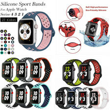 for Apple Watch iWatch Series 3 4 5 6 SE 38-44mm Soft SILICONE Sport Strap Band