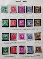 Us 1940 Famous Americans Set Scott 859-893 Mint